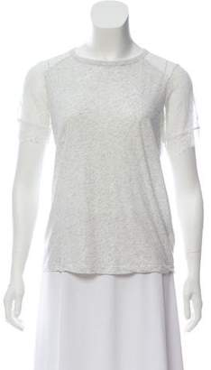 Clu Lace-Trimmed Short Sleeve Top