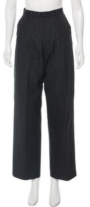 Issey Miyake High-Rise Textured Pants