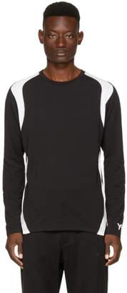 Y-3 Black and White Long Sleeve Three-Stripes T-Shirt