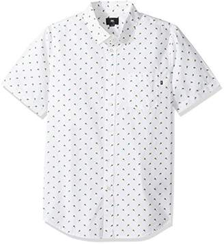 Obey Men's Paradise Point Short Sleeve Button up Woven Shirt