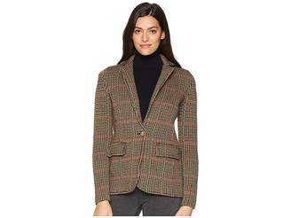 Lauren Ralph Lauren Plaid Wool Blend Blazer