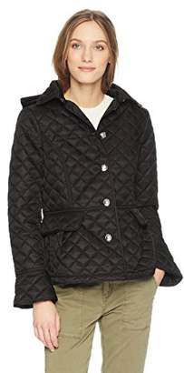 Tommy Hilfiger Women's Button Front Short Quilted Jacket