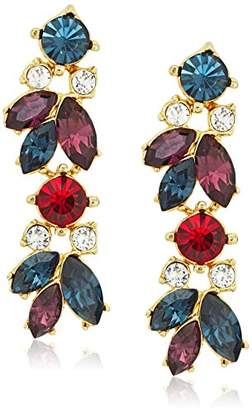 Swarovski Ben-Amun Jewelry Maharaji Crystal Cluster Linear Post Drop Earrings