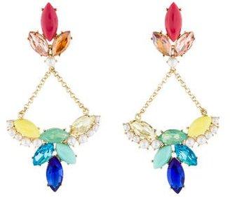 Lulu Frost Crystal & Faux Pearl Drop Earrings $75 thestylecure.com