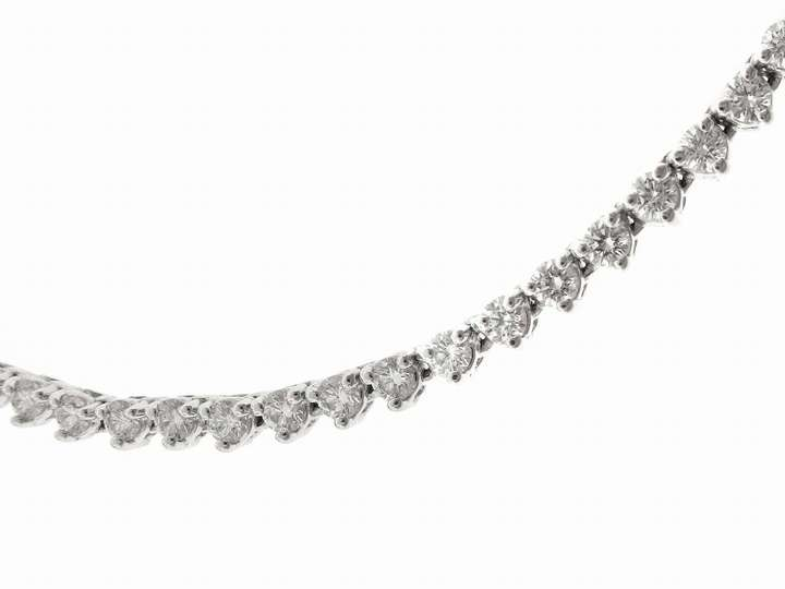 A.Link Diamond Chain in White Gold