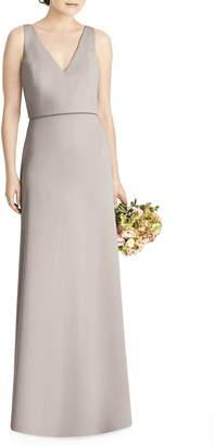 Jenny Yoo JY Tie Back Crepe Gown