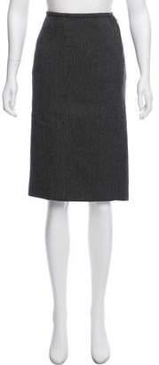 Louis Vuitton Wool-Blend Pencil Skirt