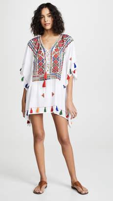 e5871e4e15 Bindya Lace Up Tunic with Mirror Embroidery