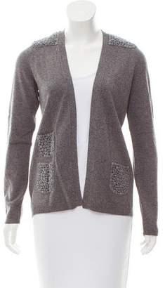 Akris Punto Crochet-Accented Wool & Cashmere-Blend Cardigan