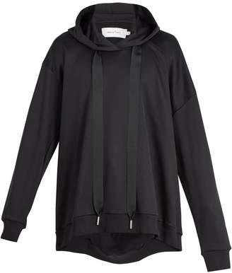 Marques Almeida MARQUES'ALMEIDA Hooded asymmetric-sleeve cotton-blend sweatshirt