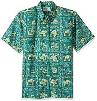 Reyn Spooner Men's Lahaina Sailor Kloth Classic Fit Hawaiian Shirt Emerald