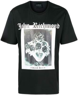 John Richmond sacred heart print T-shirt
