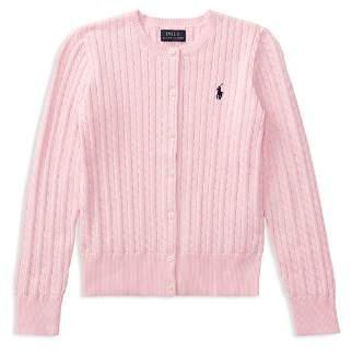 Ralph Lauren Girls' Cable-Knit Cardigan - Big Kid