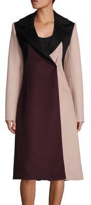 BOSS Runway Cibina Wool & Cashmere Colorblock Coat $2,395 thestylecure.com