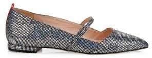 Sarah Jessica Parker Women's Vana Embellished Point Toe Mary Jane Flats - Silver - Size 35 (5)