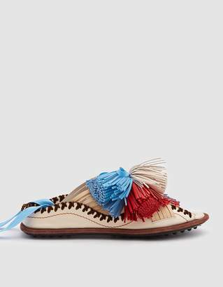 Carven Berri Lace-Up Slip on Sandal