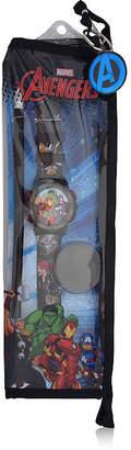Marvel Avengers Unisex Adult Black Strap Watch-Avg40007jc