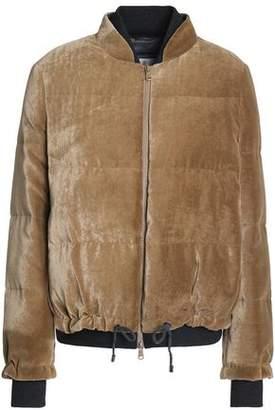 Brunello Cucinelli Quilted Velvet Bomber Jacket