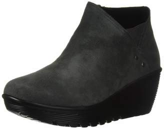 Skechers Women's Parallel-Ditto-Asymmetrical Collar Suede Bootie Ankle Boot