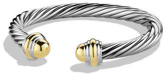 David Yurman Cable Classic Bracelet with Stone Ends