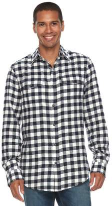 Sonoma Goods For Life Men's SONOMA Goods for Life Slim-Fit Plaid Flannel Button-Down Shirt