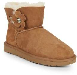 UGG Poppy Button Shearling Lined Booties