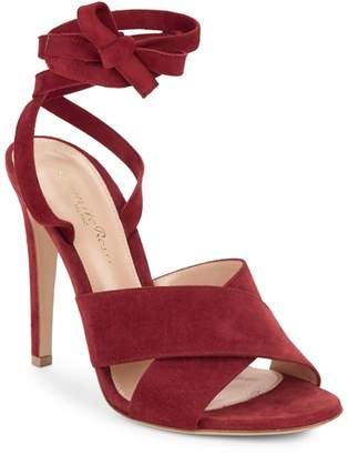 Gianvito Rossi Crisscross Leather Ankle-Strap Sandals