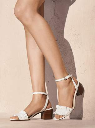 MICHAEL Michael Kors Bella Ruffled Leather Sandal