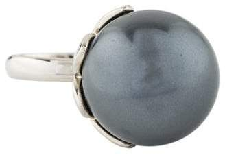 Christian Dior Faux Pearl Mise En Tribal Ring