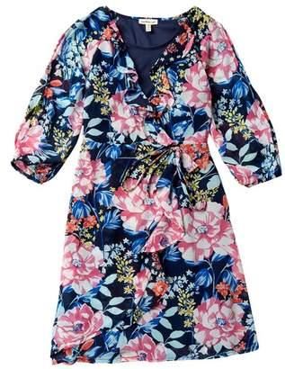 Couture Monteau Long Sleeve Cold Shoulder Dress (Big Girls)