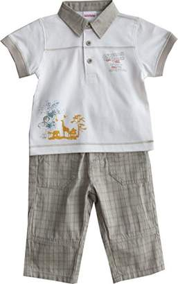 Schnizler Boys' African Outback 2 TLG. mit Poloshirt und karierter Hose Clothing Set