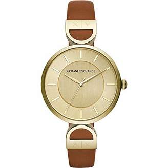 Armani Exchange Women's 'Brooke' Quartz Stainless Steel and Leather Watch