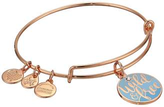 Alex and Ani Color Infusion Words Are Powerful Wild and Free Bangle Bracelet