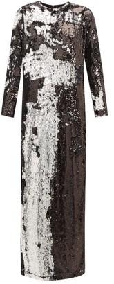Marques Almeida Marques'almeida - Two Way Sequinned Occasion Dress - Womens - Silver