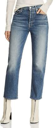 Mother The Tomcat High-Rise Straight-Leg Jeans in We All Scream