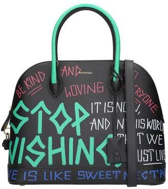 Balenciaga Medium Ville Graffiti Calfskin Leather Dome Bag