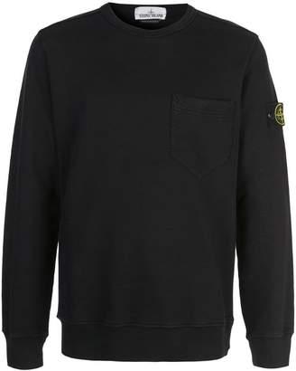 Stone Island sleeve insignia sweatshirt