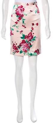 Dolce & Gabbana Silk Printed Skirt