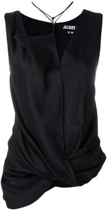 Jacquemus asymmetric sleeveless top
