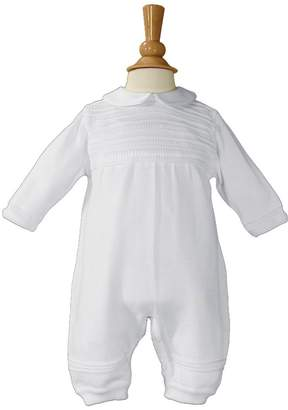 Little Things Mean a Lot Boys Cotton Knit Christening Outfit Christening Baptism Romper 3M