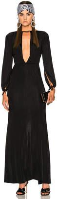 Alessandra Rich Jersey Deep V Gown