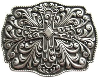 Celtic JEAN'S FRIEND New Classic Vintage Silver Plated Western Cross Knot Belt Buckle