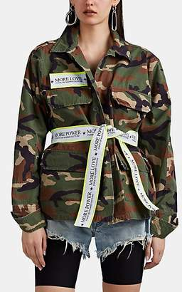 e98c750c857 Couture Forte Dei Marmi Women s Camouflage Cotton Ripstop Oversized Jacket  - Green