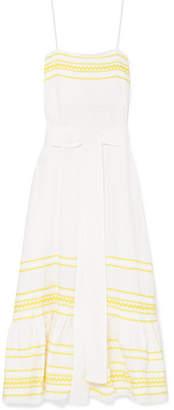 Lisa Marie Fernandez Fiesta Rickrack-trimmed Linen Dress - Pastel yellow