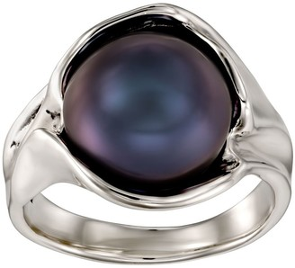 Hagit Sterling Silver Round Cultured Pearl Ring