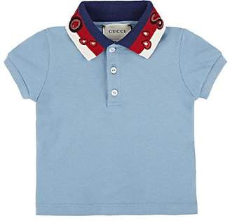 63a3e4280de Gucci Infants  Spiritismo Cotton-Blend Piqué Polo Shirt - Blue