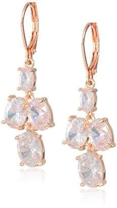 Anne Klein Women's Crystal Double Drop Earrings
