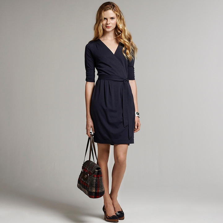 Tommy Hilfiger Women's 3/4 Sleeve Wrap Jersey Dress