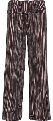 Vix Lanai Lotus Striped Voile Wide-Leg Pants $198 thestylecure.com