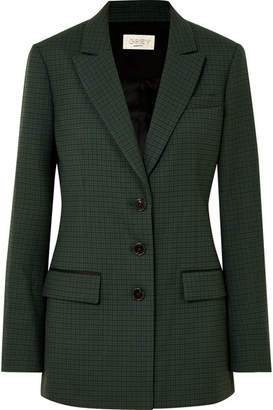 Jason Wu GREY - Milano Checked Twill Blazer - Green